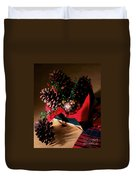 Pinecones Christmasbox Painted Duvet Cover