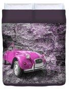 Pink 2cv  Duvet Cover