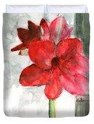 Pink Amaryllis Duvet Cover