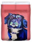 Pink And Blue Dog Duvet Cover