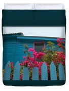 Pink And Blue House Duvet Cover