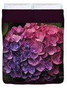 Pink And Blue Hydrangea Duvet Cover