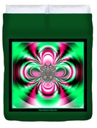 Pink And Green Rotating Flower Fractal 74  Duvet Cover