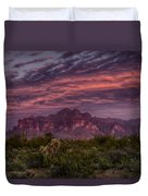 Pink And Purple Desert Skies  Duvet Cover