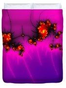 Pink And Purple Digital Fractal Artwork Duvet Cover