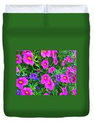 Pink And Purple Petunias Duvet Cover