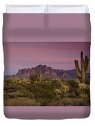 Pink And Purple Skies  Duvet Cover
