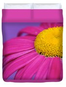 Pink And Purple Smile Duvet Cover