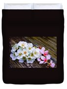 Pink And White 2 Duvet Cover