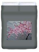 Pink And White Cherry Blossom Duvet Cover