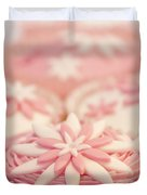 Pink And White Cup Cakes Duvet Cover