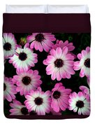 Pink And White Daisies Duvet Cover