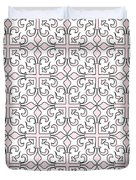 Pink And White Interlude Duvet Cover