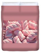 Pink And White Marshmallows Duvet Cover