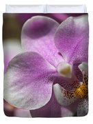 Pink And White Orchid Duvet Cover