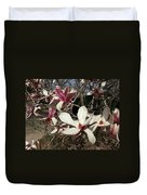 Pink And White Spring Magnolia Duvet Cover
