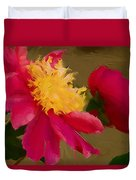 Pink And Yellow Au Deux Duvet Cover