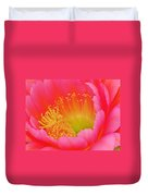 Pink And Yellow Cactus Flower Duvet Cover