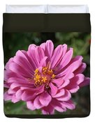 Pink And Yellow Flower Duvet Cover