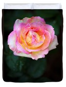 Pink And Yellow Rose Duvet Cover