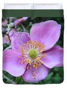 Pink Anemone Flower Duvet Cover