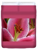Pink Asiatic Abstract Duvet Cover