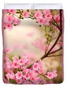 Pink Azalea Bush Duvet Cover