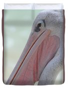 Pink Backed Pelican Duvet Cover