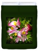 Pink Begonia Duvet Cover
