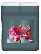 Pink Begonia Flower Portrait Duvet Cover