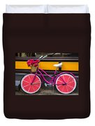 Pink Bike Duvet Cover