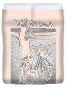Pink Bike Duvet Cover