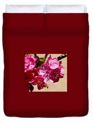 Bee Flying Pink Blossoms 031015a Duvet Cover