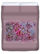 Pink Blossoms - Paint Duvet Cover