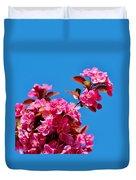 Pink Blossoms Blue Sky 031015a Duvet Cover