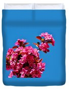 Pink Blossoms Blue Sky 031015aa Duvet Cover