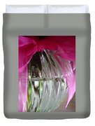 Pink Bowed Glass Duvet Cover