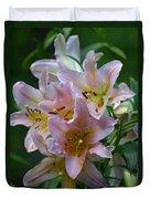 Pink Bridal Bouquet Duvet Cover