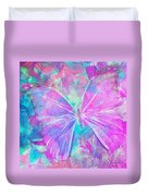 Pink Butterfly By Jan Marvin Duvet Cover