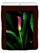 Pink Calla Lily Blossom Duvet Cover