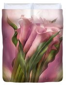 Pink Callas Duvet Cover