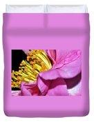 Pink Camellia And Stamen Duvet Cover