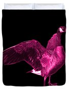 Pink Canada Goose Pop Art - 7585 - Bb  Duvet Cover