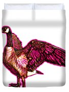 Pink Canada Goose Pop Art - 7585 - Wb Duvet Cover