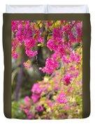 Pink Cascade Of Bougainvillea. Vertical Duvet Cover