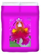 Pink Cattelaya Orchid Duvet Cover