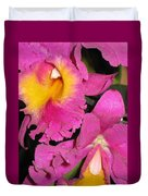 Pink Cattleya Orchid Duvet Cover