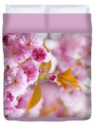 Pink Cherry Blossoms In Spring Orchard Duvet Cover by Elena Elisseeva