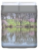 Pink Cherry Reflections Duvet Cover