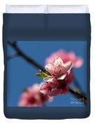 Pink Cherry Tree Blossom Duvet Cover